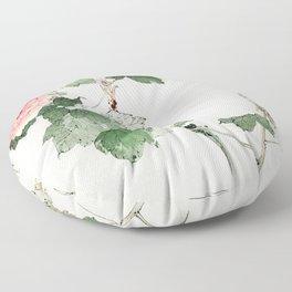 Tree peony  from Bijutsu Sekai (1893-1896) by Watanabe Seitei a prominent Kacho-ga artist Floor Pillow