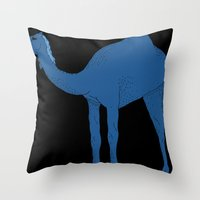 camel Throw Pillows featuring Camel by tamara elphick
