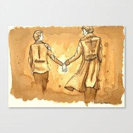 Johnlock in Coffee Canvas Print