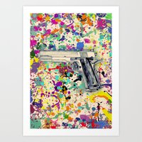 gun Art Prints featuring Gun by Maressa Andrioli