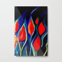 """Oil Painting """"Tulips"""" Metal Print"""