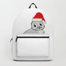 Merry XMAS santa claus hat Christmas Animal Backpack