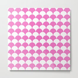Fan Pattern 321 Pink Metal Print