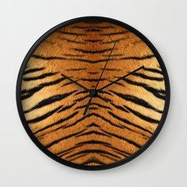 Cute tiger skin pattern Wall Clock