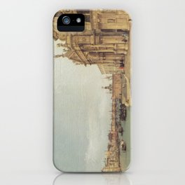 Entrance to the Grand Canal - Canaletto (Distressed Plaster Look) iPhone Case