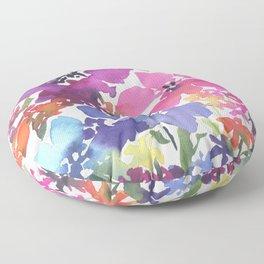 Pretty Poppy Patch Floor Pillow