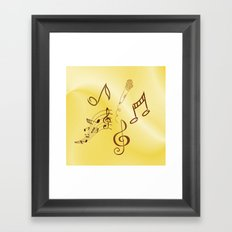 Music in the air, sunny Framed Art Print
