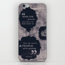 Quotations iPhone Skin