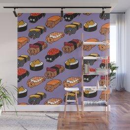 Sushi Daschunds Wall Mural