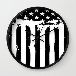 Grunge American Flag Wall Clock
