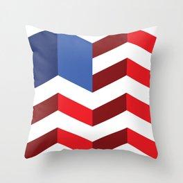Rectangular American Flag Throw Pillow