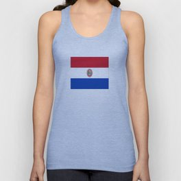flag of paraguay -paraguyan,asuncion,spanish, south america, latin america,pan flute,coffee,forest Unisex Tank Top
