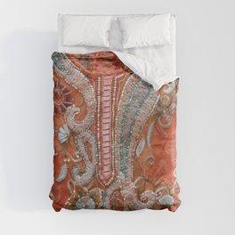 India Patchwork Design orange Duvet Cover