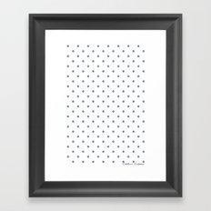 Bon Chance Blanc Framed Art Print