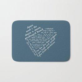 Quotes of the Heart - Destiel (White) Bath Mat