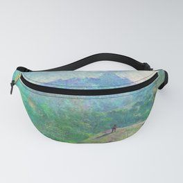 Legend of Zelda Breath of the Wild Intro Impressionist Painting Fanny Pack
