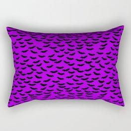 Bats in the Belfry-Purple Rectangular Pillow