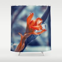ginger Shower Curtains featuring Ginger Flower by cinema4design