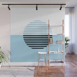 Horizons Geometric Design 4 - Turquoise Blue Sea Wall Mural