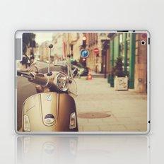 Vespa in Paris Laptop & iPad Skin