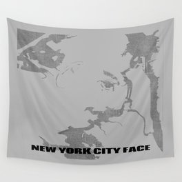 New York City Face Wall Tapestry