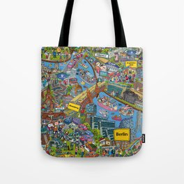 Illustrated map of Berlin Tote Bag