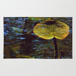 Lily Pads Under Water Rug