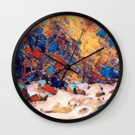 Rocky Riverfall Wall Clock