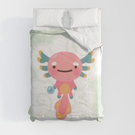 Umpearl - Axolotl with magic pearl Comforters