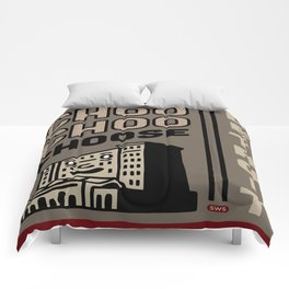 Choo Choo Choose Detroit Comforters