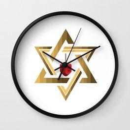 Star Of David Jewish Dreidel Wall Clock