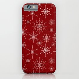 Snowflake Mandalas Red iPhone Case