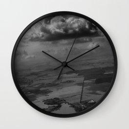 living under the rain cloud Wall Clock