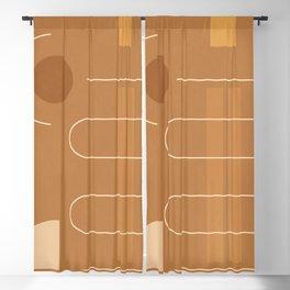 Minimal Geometric Shapes 115 Blackout Curtain