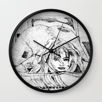 college Wall Clocks featuring College Art by Jeffrey J. Irwin