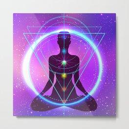 Yoga Meditation Energy, Sacred Geomertry, Zazen, Chakras, Kundalini Metal Print