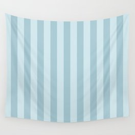 Stripes (Parallel Lines, Striped Pattern) - Blue Wall Tapestry