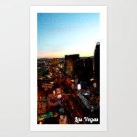 las vegas Art Prints featuring Las Vegas by Natasha Jones