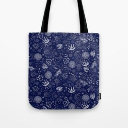 Lunar Tides: Midnight Tote Bag