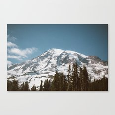Retro Rainier Canvas Print