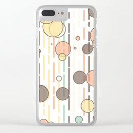 Circles and lines Clear iPhone Case