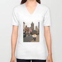 gentleman V-neck T-shirts featuring Gentleman by Hyerin Ha
