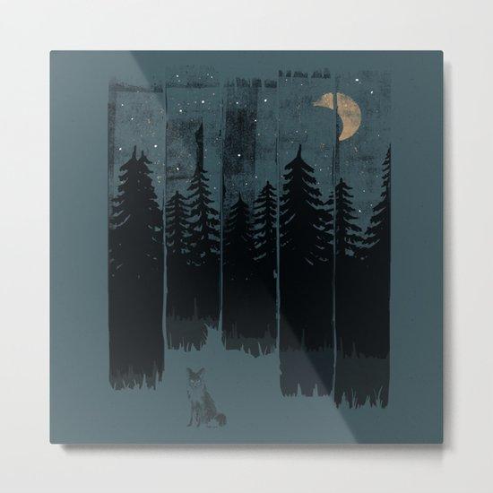 A Fox in the Wild Night... Metal Print