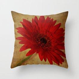 Musical Gerbera Throw Pillow