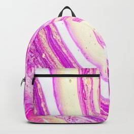 Marble pink and gold Backpack