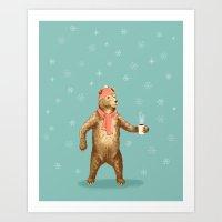 polar bear Art Prints featuring Polar Bear by Fresh Prints