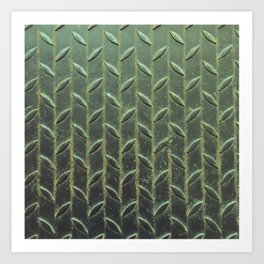 Iron Wheat. Fashion Textures Art Print