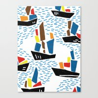 boats Canvas Prints featuring boats by frameless