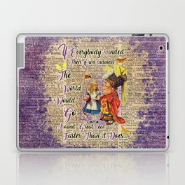 Alice with The Duchess Vintage Dictionary Art Laptop & iPad Skin