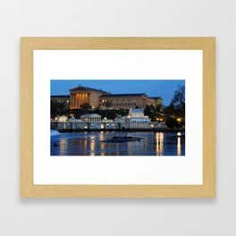 Philadelphia Art Museum and Fairmount Water Works at Dusk Framed Art Print